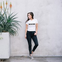 Weekend Casual Typography Women's T-shirt