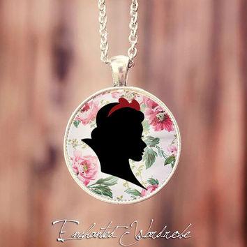 Snow White Silhouette Necklace