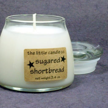 Soy Jar Candle // Sugared Shortbread // Highly Scented Container Candle // Mother's Day Gift // Wedding Favor // Primitive Home Decor