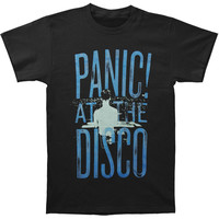 Panic At The Disco Men's  Crowd Stack Slim Fit T-shirt Black Rockabilia