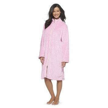 Hotel SPA Women's Herringbone Zip-Up Robe