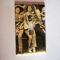 Cowgirl switch plate retro vintage 1950's pin up rockabilly light switch kitsch