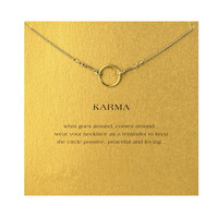 Hot Sale gold plated the original karma necklace Pendant necklace Clavicle Chains Fashion Statement Necklace Women Jewelry