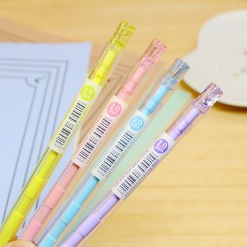 2.0mm Cute Kawaii 2B Plastic Lead Standard Pencil With Sharpener For Kids Gift School Supplies Free Shipping 3033