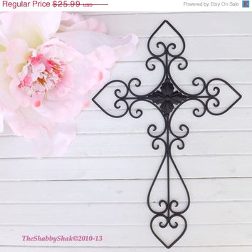 ON SALE Black Wall Cross /Cross Decor / Metal Cross / Wall Cross / Bedroom Wall Decor / Kitchen Decor
