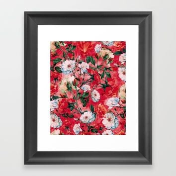 Rose Red Framed Art Print by RIZA PEKER