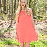 Sleeveless Chiffon Dress in Pink LightBlue or Orange