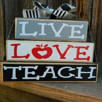 Teacher Appreciation wood blocksLive Love by BuzzingBeesCrafts