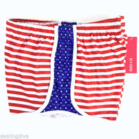 Zeta Tau Alpha ZTA USA Athletic Shorts Krass & Co Sz XS Red Blue White Sorority
