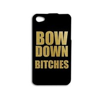 Funny Phone Case Bow Down Quote Gold Black Cover iPhone Cute iPod Phone Cool
