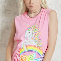 Lisa Frank Graphic Muscle Tee