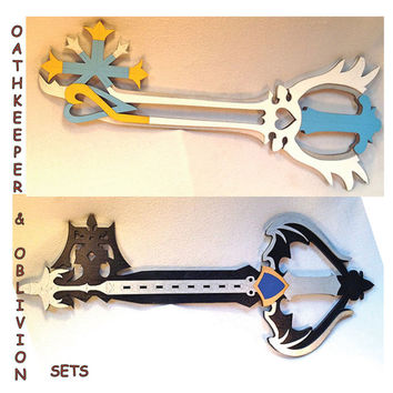 Oathkeeper & Oblivion Keyblade Set, Kingdom Hearts Cosplay Replica