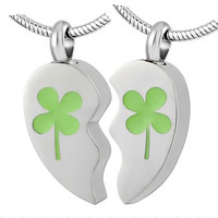 "Cremation Jewelry Stainless Steel ""BFF"" Pendants 2 Necklaces"