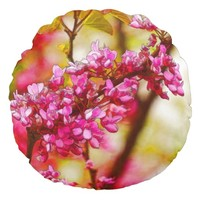 Winter Flowers In Tiberias, Israel Round Pillow