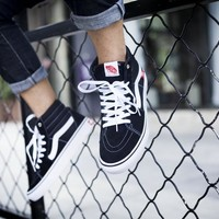 Vans Old Skool Pro Black And White High Top Sneaker Flats Shoes Canvas Sport Shoes
