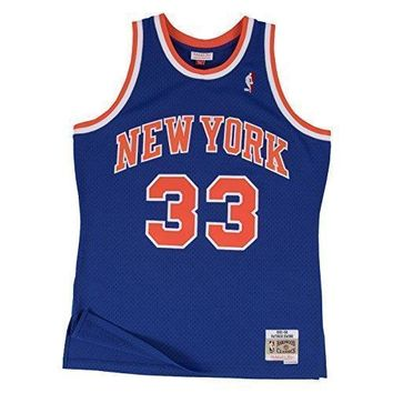 Patrick Ewing New York Knicks Mitchell & Ness NBA Throwback HWC Jersey - Blue