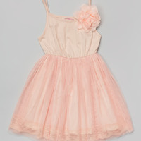 Blush Flower Overlay Dress - Toddler & Girls | something special every day