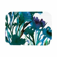 "Ebi Emporium ""Petal For Your Thoughts Teal"" Turquoise Green Place Mat"