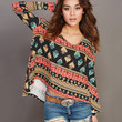 Soft Printed Oversized Tee   Wet Seal