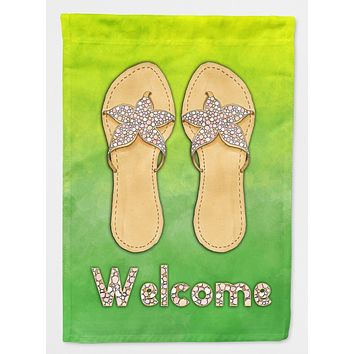 Flip Flops Welcome Flag Canvas House Size BB7454CHF
