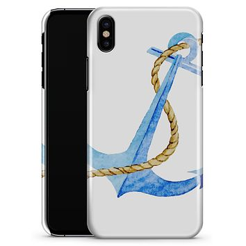 Painted Blue Summer Anchor - iPhone X Clipit Case