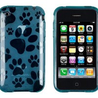 Abz Cases Dog Print Case for Apple iPhone 3G, 3GS-Blue