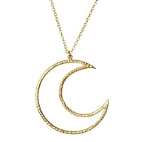 Large Crescent Moon Necklace