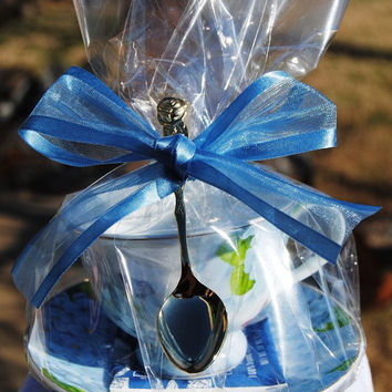 4 Blue Butterfly Tea Cup (Teacup) Favors
