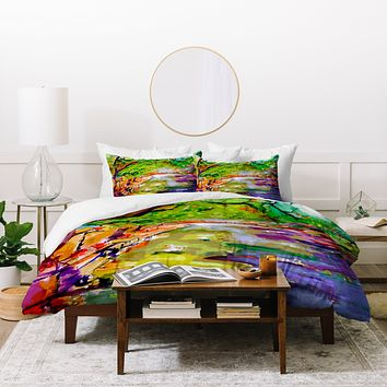Ginette Fine Art Annecy Canal France Duvet Cover