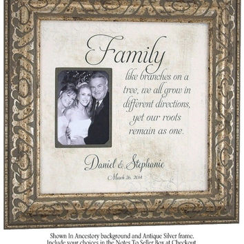 Personalized Wedding Gift, Mr Mrs Sign, picture frame, FAMILY, Like Branches On A Tree, Bridal Shower, 16 X 16