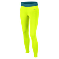 Nike Pro Hyperwarm Fitted Girls' Tights Size M (Yellow)