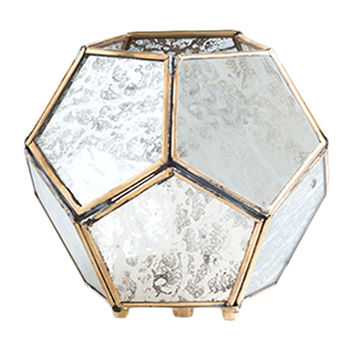 Small Marcel Hexagon Votive Holders (Set of 2)