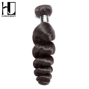 HJ Weave Beauty Peruvian Virgin Hair Loose Wave 100% Human Hair Bundles Natural Color Free Shipping