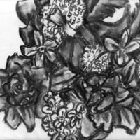 Black and White Art - Floral Artwork - Affordable Art - SamIamArt