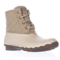 Sperry Top-Sider Saltwater Short Rain Boots - Quilt Wool Oyster