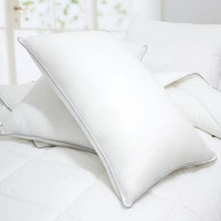 Set of 2-Caress-Polyester Bed Pillows-Filled & Finished in USA-2 Year Warranty Size: King