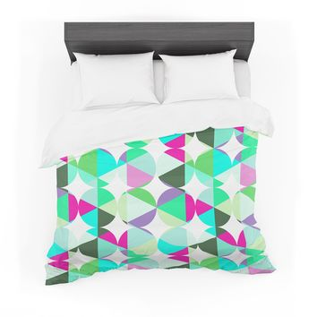 "83 Oranges ""Retro"" Blue Green Digital Featherweight Duvet Cover"