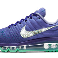 Nike Air Max 2017 + Swarovski Crystal Swoosh - Purple