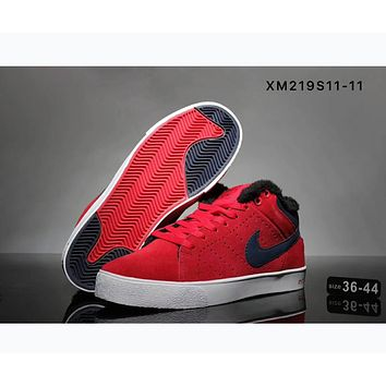 Nike Trail Blazers high to help increase the winter warm shoes casual shoes F-SSRS-CJZX Red