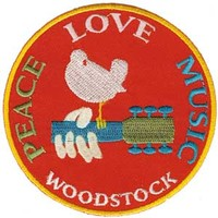 Woodstock Peace, Love & Music Patch on Sale for $3.99 at HippieShop.com