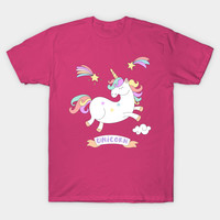 Cute Jumping Colorful Unicorn by cutedesigns