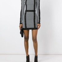 Balmain Checked Knit Dress - Petra Teufel - Farfetch.com