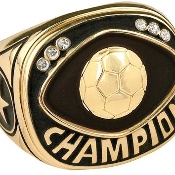 Champion Soccer Ring Championship Soccer Ring Trophy Ring (10 Sizes)
