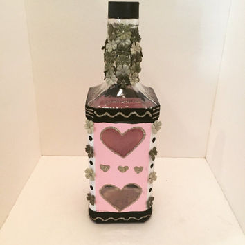Jack daniels heart decorative bottle