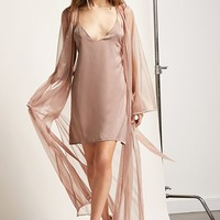 Sheer Metallic Duster