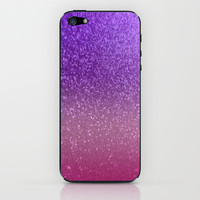 Gradient Glitter Purple Pink Sparkle iPhone & iPod Skin by xjen94