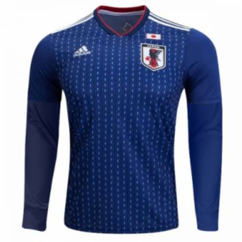 KUYOU Japan 2018 World Cup Home Men Long Sleeve Soccer Jersey Personalized Name and Number