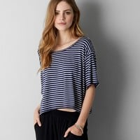 DON'T ASK WHY LOOSE CROPPED T-SHIRT