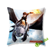 How to Train Dragon Square Pillow Cover