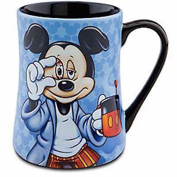 disney parks ceramic morning mickey some mornings are rough coffee mug new